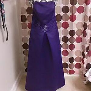 Purple Eden bridals corset back bridesmaid gown